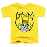 Transformers Bumblebee Head Toddler T-Shirt Yellow