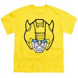 Transformers Bumblebee Head Youth T-Shirt Yellow