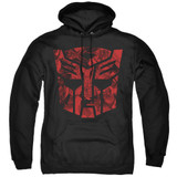 Transformers Tonal Autobot Adult Pullover Hoodie Sweatshirt Black