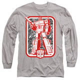 Transformers Autobot Adult Long Sleeve T-Shirt Athletic Heather