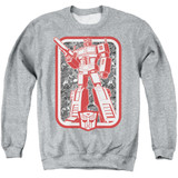 Transformers Autobot Adult Crewneck Sweatshirt Athletic Heather