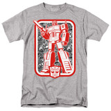 Transformers Autobot Adult 18/1 T-Shirt Athletic Heather