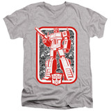 Transformers Autobot Adult V-Neck T-Shirt Athletic Heather