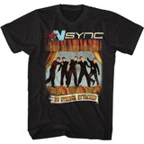 NSYNC No Strings No Words Black Adult T-Shirt