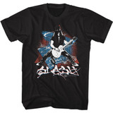 Slash Guns N Roses Splash Black Adult T-Shirt