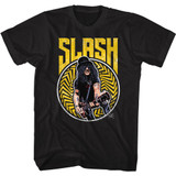 Slash Guns N Roses Bold N Yellow Black Adult T-Shirt