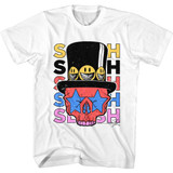 Slash Guns N Roses Slash Skull and Hat White Adult T-Shirt