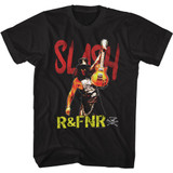 Slash Guns N Roses R and FN R Black Adult T-Shirt