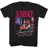 Scarface Always Black Adult T-Shirt