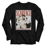 Scarface Always Black Adult Long Sleeve T-Shirt