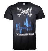 Mayhem De Mysteriis Dom Sathanas Blue Print T-Shirt