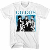 The Go-Go's Group Shot White Adult T-Shirt