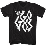 The Go-Go's Distressed Logo Black Adult T-Shirt
