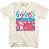 The Go-Go's CM Group Natural Adult T-Shirt