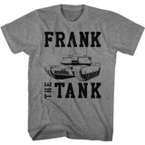 Old School Frank The Tank Graphite Heather Adult T-Shirt