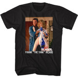 Old School Frank and Doll Black Adult T-Shirt