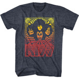 Kiss Waves Navy Heather Adult T-Shirt