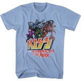Kiss Park Phantom Light Blue Heather Adult T-Shirt