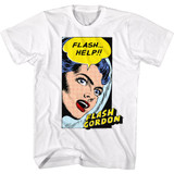 Flash Gordon Help!! White Adult T-Shirt