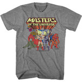 Masters of the Universe Desatch Cast Graphite Heather Adult T-Shirt