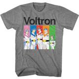 Voltron Voltron and Color Blocks Graphite Heather Adult T-Shirt