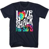 The B-52's Love Shack Tie Dye Navy Adult T-Shirt