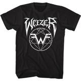 Weezer Metal Weezer Logo Black Adult T-Shirt