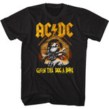 AC/DC Dog a Bone Black Adult T-Shirt