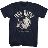 John Wayne Courage Navy Adult T-Shirt