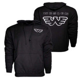 Waylon Jennings Silver Flying W Hoodie Sweatshirt