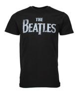 Beatles Distressed Logo Black Classic Men's T-Shirt