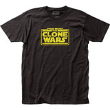 Star Wars Clone Wars Logo Fitted Jersey T-Shirt
