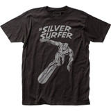 Silver Surfer Shimmer Surfer Fitted Jersey T-Shirt