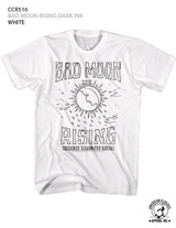 Creedence Clearwater Revival Bad Moon Rising Dark Ink White Adult T-Shirt