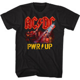AC/DC PWRUP Band Photo Black Adult T-Shirt