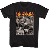 Def Leppard Def Collage Black Adult T-Shirt