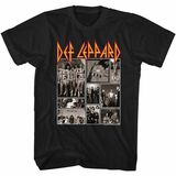 Def Leppard Def Collage Black Adult T-Shirt