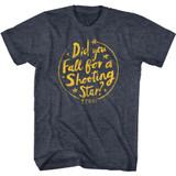 Train Drops of Jupiter Lyrics Navy Heather Adult T-Shirt