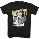 Train Message In A Bottle Black Adult T-Shirt