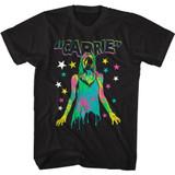 Carrie Color and Splatter Black Adult T-Shirt
