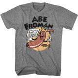 Ferris Bueller's Day Off Abe Froman Graphite Heather Adult T-Shirt