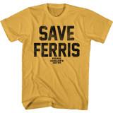 Ferris Bueller's Day Off Save Ferris Again Ginger Adult T-Shirt