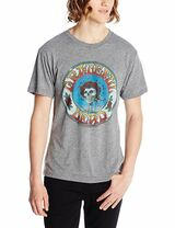 Grateful Dead Skull and Roses Distressed Fitted T-Shirt