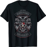Five Finger Death Punch Biker Badge Got Your Six T-Shirt