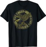 Five Finger Death Punch Eagle Black and Gold T-Shirt