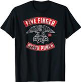 Five Finger Death Punch Rocker Crest Distressed T-Shirt