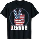 John Lennon Red, White, Blue Peace T-Shirt