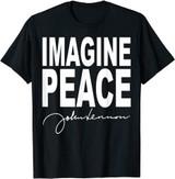 John Lennon Imagine Peace Black T-Shirt