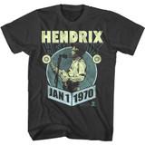 Jimi Hendrix January 1970 Smoke Adult T-Shirt