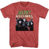 Kiss Merry Kissmas Red Heather Adult T-Shirt